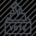 ballot, box, election, hand, vote, voting icon