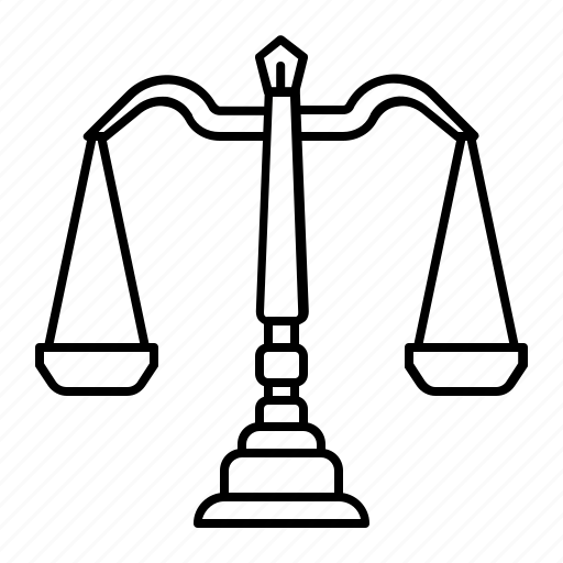 balance, election, justice, law, scale icon