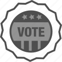 campaign, election, sticker, vote, voted sticker, voting icon