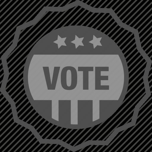 campaign, election, sticker, vote, voted sticker, voting icon