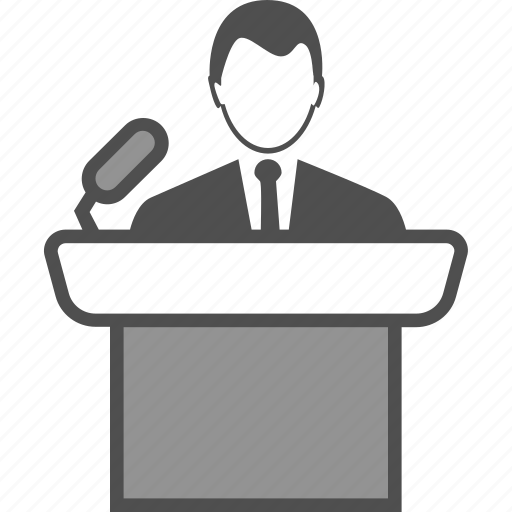 campaign, candidate, election, speech icon