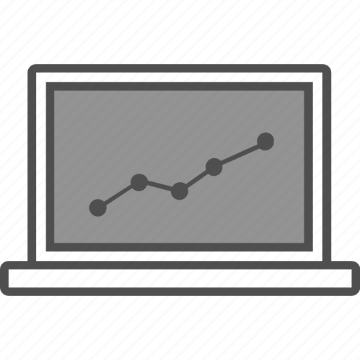 chart, device, graph, growth, presentation icon