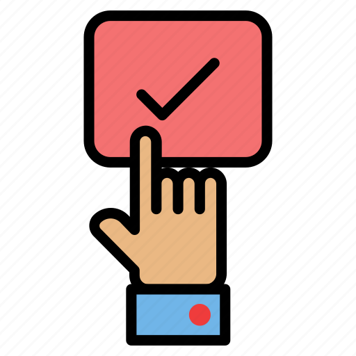 click, finger, gesture, hand, one icon