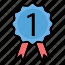 achievement, badge, leaderboard, level, prize, winner icon