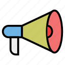 advertising, marketing, megaphone, promoting, viral icon