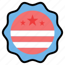 badge, campaign, election, label, political, vote, voting icon
