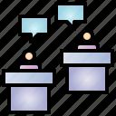 debate, election, dispute, argue, man, person, business