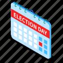 calendar, election, day, voting