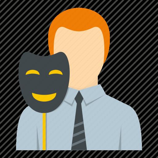 businessman, fake, man, mask, people, person, portrait icon