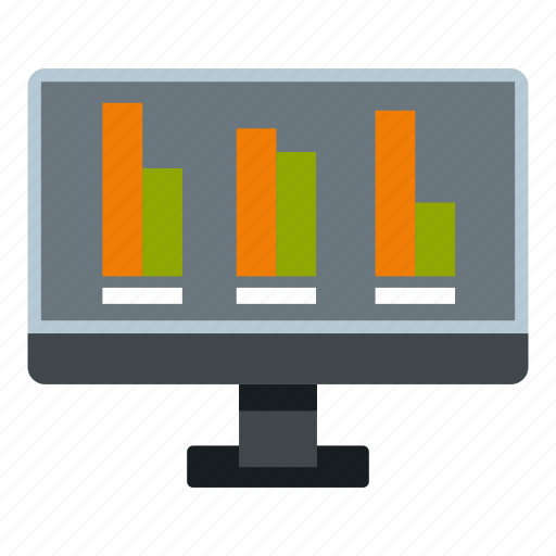 candidate, chart, graph, monitor, screen, technology, voting icon