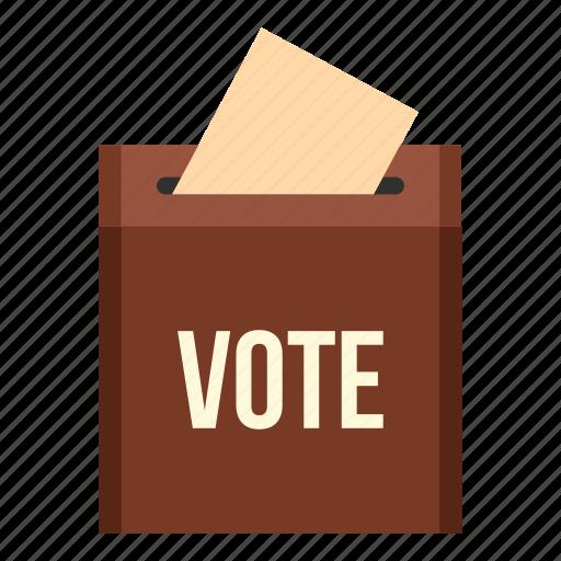 ballot, box, democracy, election, government, vote, voting icon
