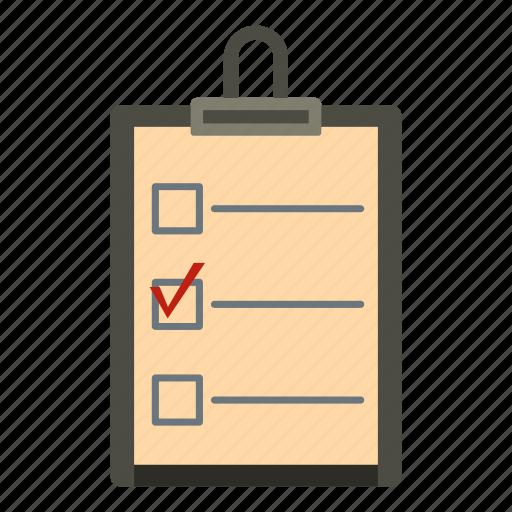 checklist, do, list, note, notebook, paper, wish icon