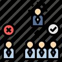 consensus, democracy, majority, poll, vote icon