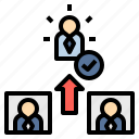 choosing, competition, electing, nomination, winner icon