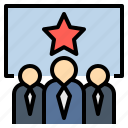 businessman, congress, minister, party, team icon