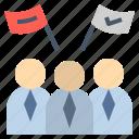 campaign, citizen, congregate, people, team