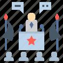 campaign, communique, government, policy, president icon
