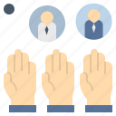 agreement, conclude, democracy, poll, vote icon