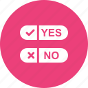 ballot, checklist, fill, no, option, paper, yes icon