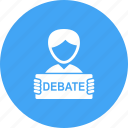 conference, debate, government, presidential, press, republican icon