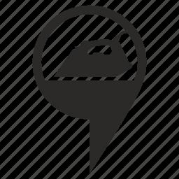 geo, iron, pointer, service icon