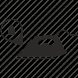 drop, electric, iron, water icon