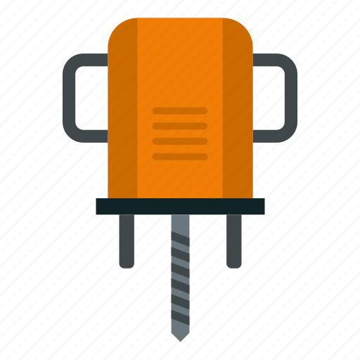 bit, construction, drill, hole, industry, tool, work icon