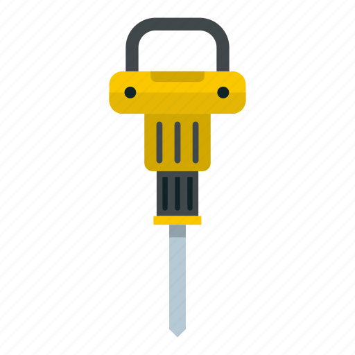 construction, equipment, hammer, plugger, pneumatic, tool, work icon