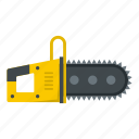 chain, chainsaw, equipment, industry, machine, saw, tool icon