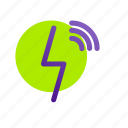 charging, electric, electricity, energy, power, wireless, wireless charging icon