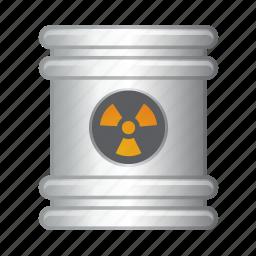 barrel, can, fuel, garbage, nuke icon