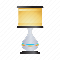 bulb, desk, electricity, lamp, light, table icon
