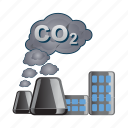 construction, factory, industrial, industry, smoke icon