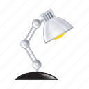 desk, electric, lamp, light, office icon