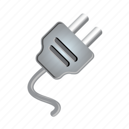 cable, electric, electricity, in, plug, power, wire icon