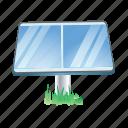 sunboard, accumulator, collector, energy, sun icon