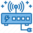 connection, current, electricity, industry, router, technology, voltage icon