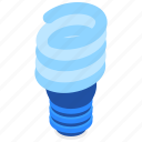 twisted, fluorescent, lamp, lighting icon