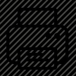 arrow, location, map, pointer, printer icon