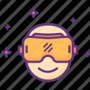 virtualreality, vr, glasses, eyeglasses icon