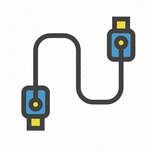 cable, data, file, usb icon