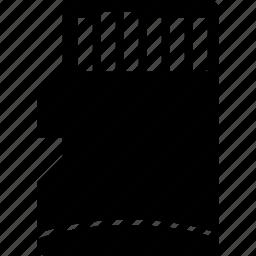 card, data, micro, sd, small, storage icon