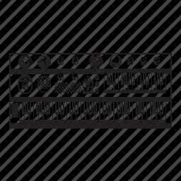 keyboard, knob, synth icon