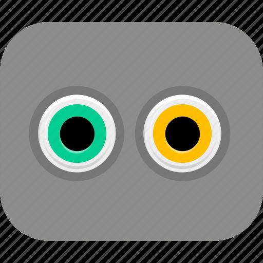 communication, connection, input, output, port icon