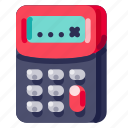 calculator, device, electronic, hardware, technology icon