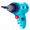 device, hardware, technology, drill, electronic icon