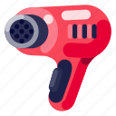 device, electronic, hair dryer, hardware, technology icon