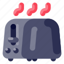 device, electronic, hardware, technology, toaster icon