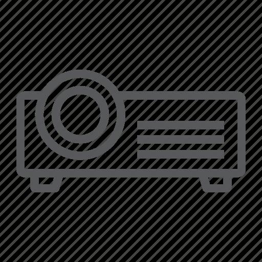 cinema, electronic, presentation, projector, seminar, video icon