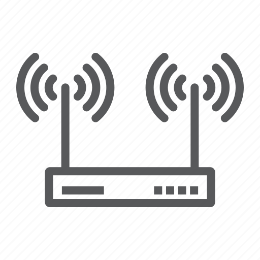 antenna, electronic, internet, network, router, web, wifi icon